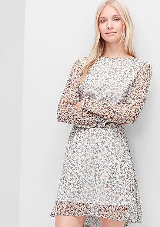 Crêpe-Kleid mit Allover-Print
