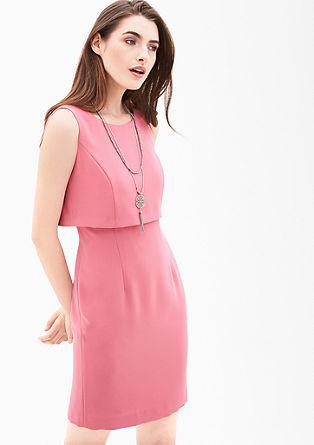 Crêpe-Kleid mit Layering