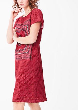 Crêpe-Kleid mit Musterprint