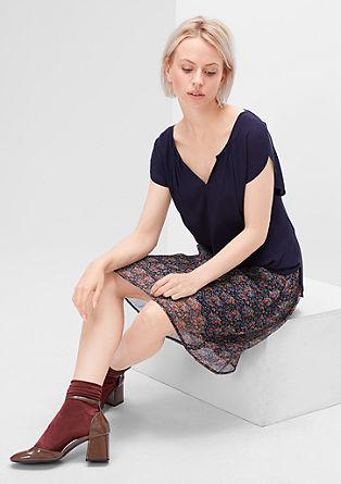 Crêpe mille-fleurs skirt from s.Oliver