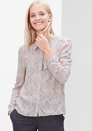 Crêpe pussy bow blouse from s.Oliver