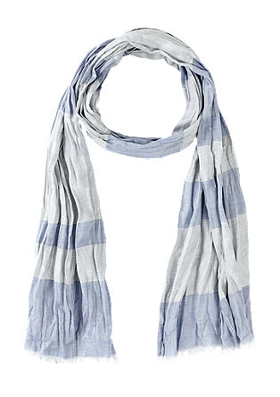 Crinkle scarf with stripes from s.Oliver