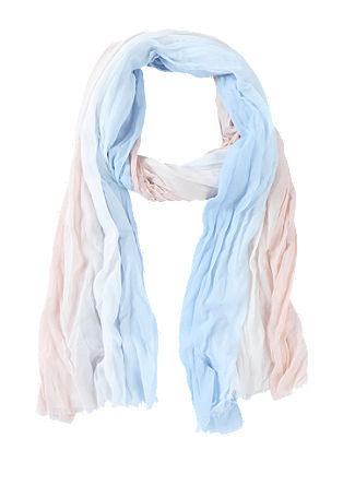 Crinkle-Schal mit Farbverlauf