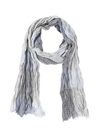 Crinkled woven fabric scarf from s.Oliver