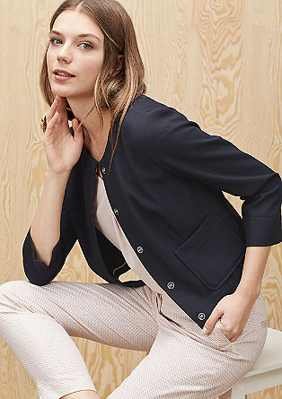 Cropped blazer in a boxy design from s.Oliver