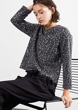 Cropped leopard print sweatshirt from s.Oliver