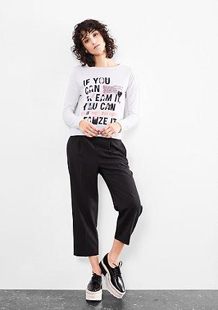 Cropped shirt met typografische print