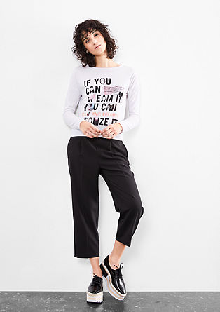 Cropped Shirt mit Typo-Print