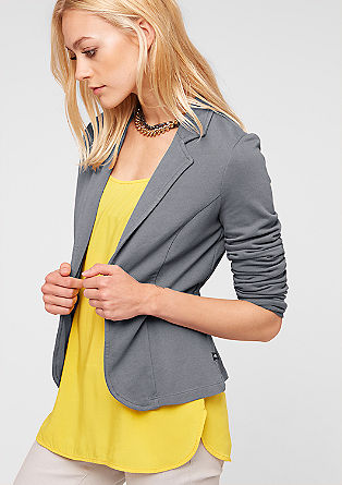 Cropped sweatshirt jersey blazer from s.Oliver
