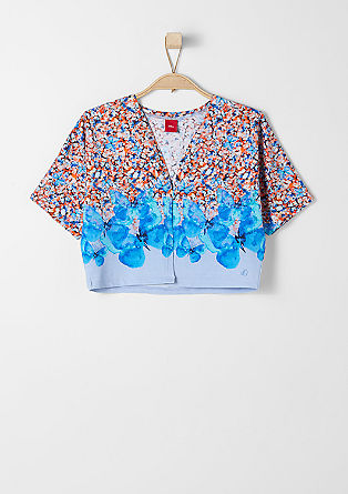 Cropped top with a print from s.Oliver