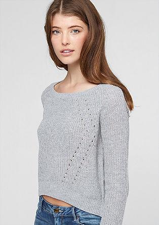 Cropped trui van ribbreisel