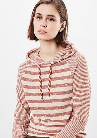 Črtast pulover iz lahke pletenine