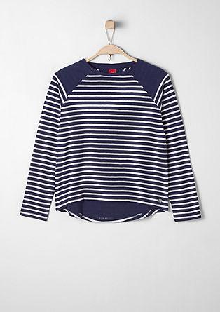 Črtast sweatshirt pulover
