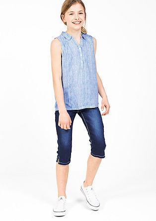 Črtasta bluza brez rokavov