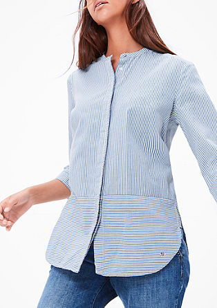 Črtasta bluza iz bombaža