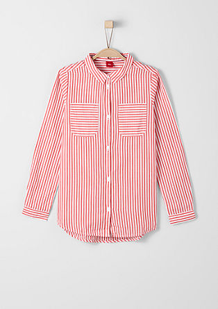 Črtasta bombažna bluza