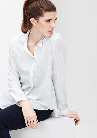 Črtasta viskozna bluza