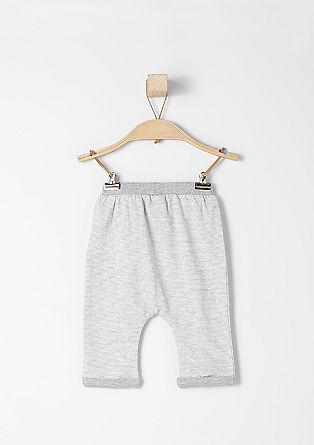 Črtaste hlače iz džersija