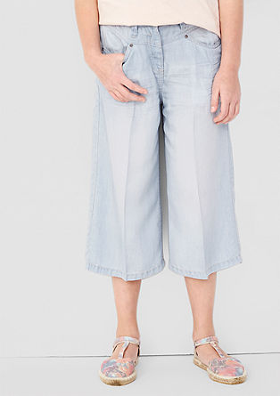 Culotte in Denim-Optik