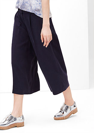 Culottes made from flowing fabric  from s.Oliver