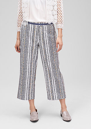 Culottes with a jacquard pattern from s.Oliver