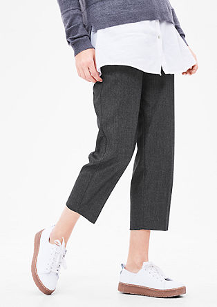 Culottes with a woven texture from s.Oliver