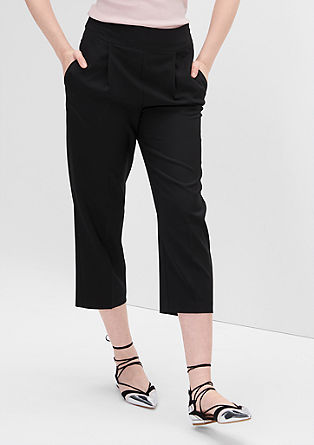 Culottes with waist pleats from s.Oliver