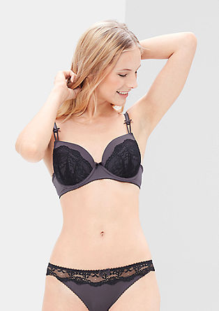 Cup bra with abundant lace from s.Oliver