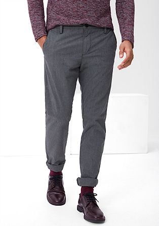 Curt Straight: Pinstripe trousers from s.Oliver