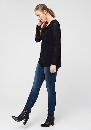 Curvy: Blaue Stretch-Jeans