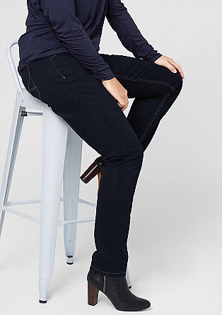 Curvy: dark blue stretch jeans from s.Oliver