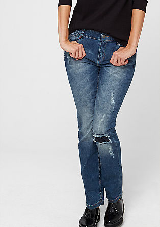 Curvy: Distressed jeans from s.Oliver