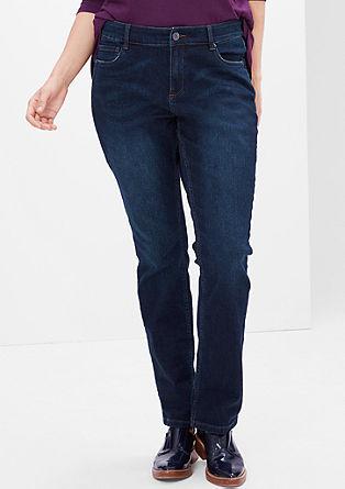Curvy: Gerade Stretch-Jeans