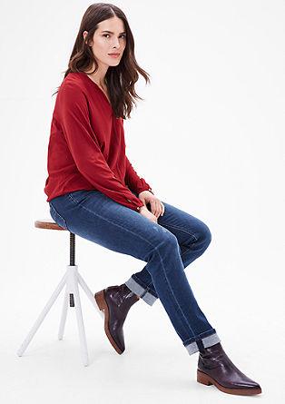 Curvy: jeans hlače z ozkimi hlačnicami