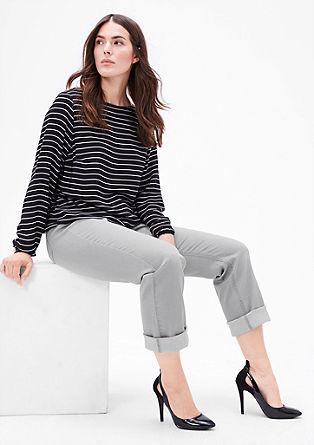 Curvy: jeans hlače z ravnimi hlačnicami