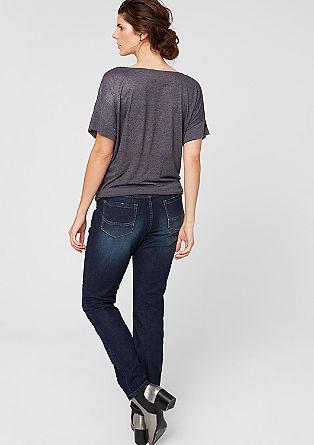 Curvy: Jeans mit Kontrast-Nähten