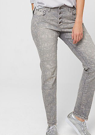 Curvy: patterned distressed jeans from s.Oliver