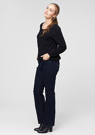 Curvy: Raw jeans with a straight leg from s.Oliver