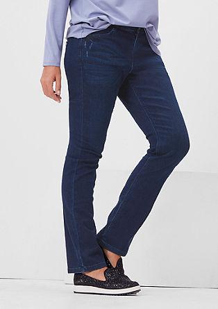 Curvy: raztegljive jeans hlače s petimi žepi