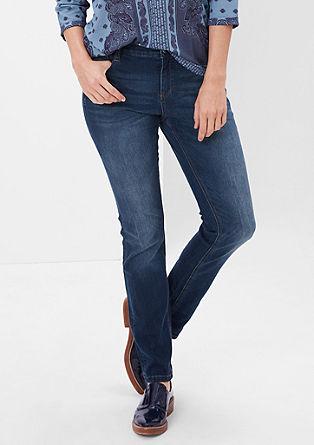 Curvy: raztegljive modre jeans hlače