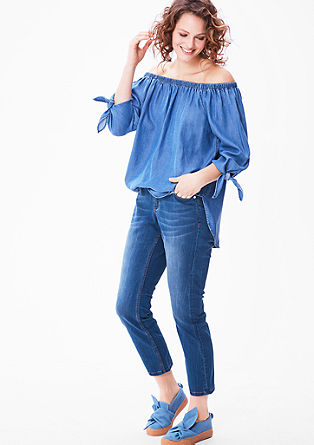Curvy: Schmale Ankle-Jeans