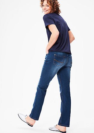 Curvy: Schmale Stretch-Denim