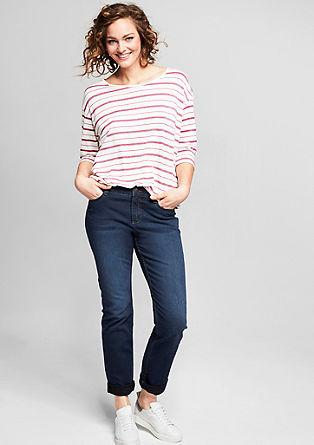 Curvy: Schmale Stretch-Jeans
