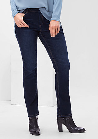 Curvy: straight stretch jeans from s.Oliver