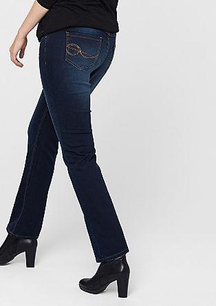 Curvy: stretch dark denim jeans from s.Oliver