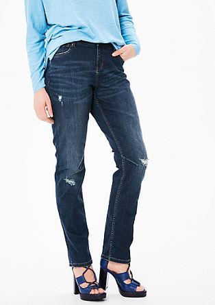 Curvy: Stretch-Jeans mit schmalem Bein