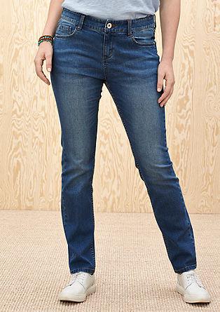 Curvy: Stretchige 5-Pocket-Jeans