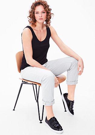 Curvy: temne obarvane jeans hlače