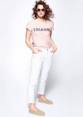 Curvy: Weiße Destroyed-Jeans