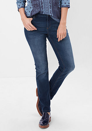 Curvy fit: blue stretchjeans